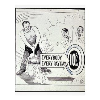 Todos cada día de cobro el 10% tarjetones