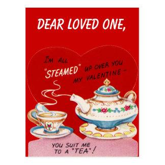 Todos cocieron al vapor para arriba tarjeta postal