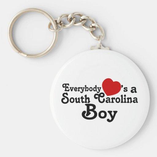 Todos corazones un muchacho de Carolina del Sur Llavero Personalizado