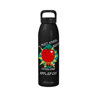 Todos deben arrodillarse antes de applefox del ove botella de agua reutilizable