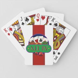 Todos en póker del casino baraja de cartas