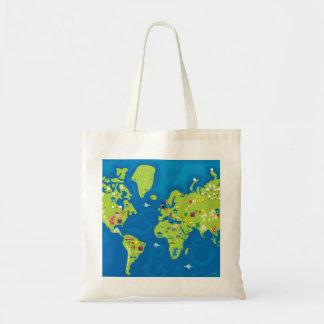 Todos en todo el mundo bolsa tela barata