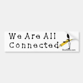 Todos estamos conectados… pegatina para auto