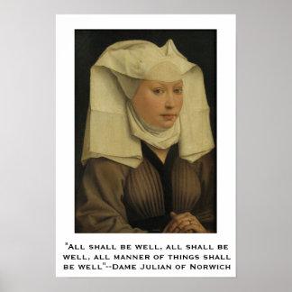 Todos estarán bien--Dama Julian de Norwich Póster