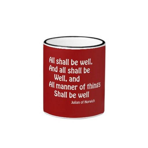 Todos estarán bien tazas de café