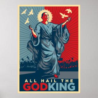 Todos granizan el Dios-Rey Poster