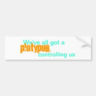 Todos hemos conseguido un platypus que nos control pegatina para auto