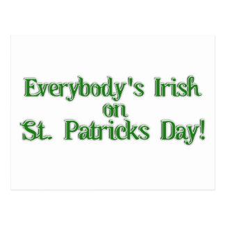 Todos… imagen irlandesa del texto postal