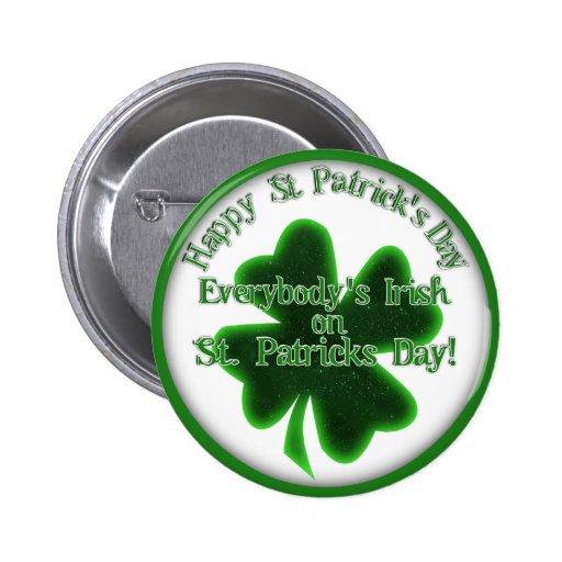 ¡♣ todos irlandés el el día de St Patrick! ♣ Pins
