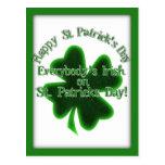 ¡♣ todos irlandés el el día de St Patrick! ♣ Postal