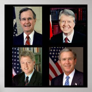 Todos junto /George H.W. Bush/Bill Clinton Poster