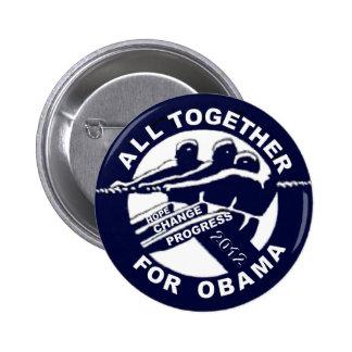 Todos junto para Obama 2012 Pin