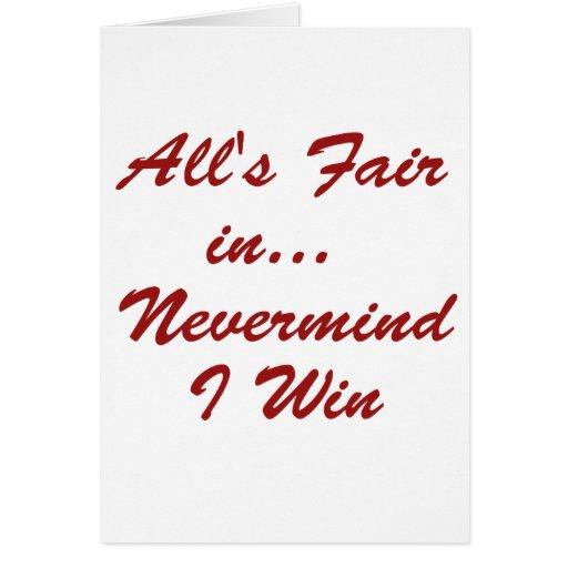 Todos justos en… ¡Triunfo de la MNV I! Tarjeta De Felicitación