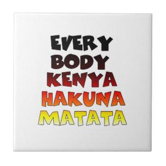 Todos Kenia Hakuna Matata Azulejo Cuadrado Pequeño