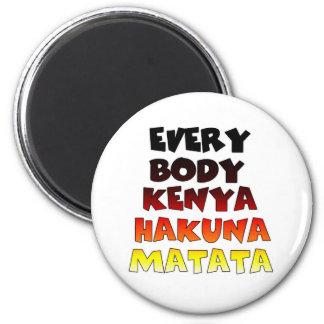 Todos Kenia Hakuna Matata Imán Redondo 5 Cm