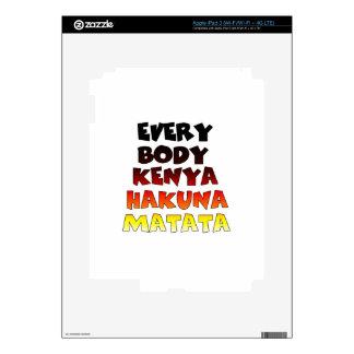 Todos Kenia Hakuna Matata Pegatinas Skins Para iPad 3