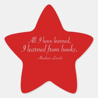 Todos lo que he aprendido, yo aprendieron de los pegatina en forma de estrella