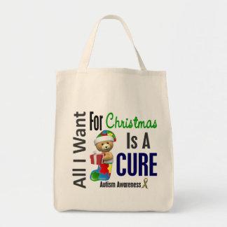 Todos lo que quiero para el autismo del navidad bolsas