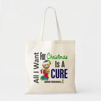 Todos lo que quiero para el autismo del navidad bolsas de mano
