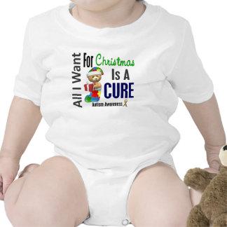 Todos lo que quiero para el autismo del navidad trajes de bebé