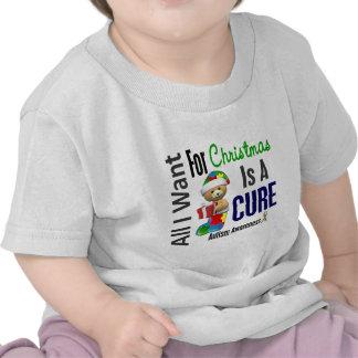 Todos lo que quiero para el autismo del navidad camiseta