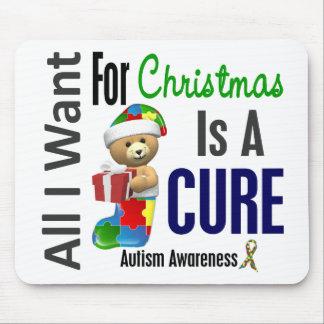 Todos lo que quiero para el autismo del navidad alfombrillas de ratones