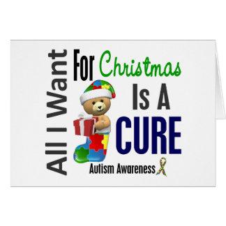 Todos lo que quiero para el autismo del navidad felicitación