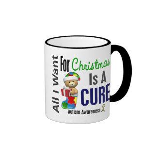 Todos lo que quiero para el autismo del navidad taza de café