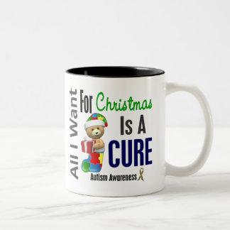 Todos lo que quiero para el autismo del navidad tazas