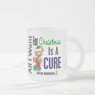 Todos lo que quiero para el autismo del navidad tazas de café