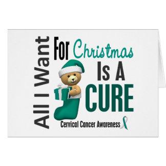 Todos lo que quiero para el cáncer de cuello del ú tarjeta de felicitación