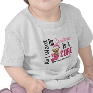 Todos lo que quiero para el cáncer de pecho del na camisetas