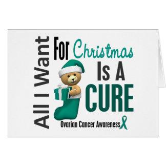Todos lo que quiero para el cáncer ovárico del nav tarjeta de felicitación