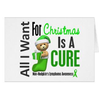 Todos lo que quiero para el linfoma Non-Hodgkin de Felicitación