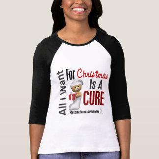 Todos lo que quiero para el mesotelioma del navida camisetas