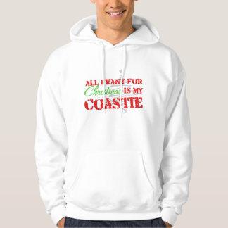 Todos lo que quiero para el navidad - Coastie Jersey Con Capucha