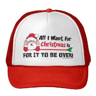 Todos lo que quiero para el navidad gorras de camionero