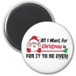 Todos lo que quiero para el navidad imanes de nevera