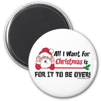 Todos lo que quiero para el navidad imán redondo 5 cm