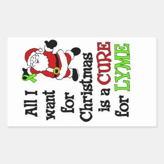 Todos lo que quiero para el navidad… Lyme Pegatina Rectangular