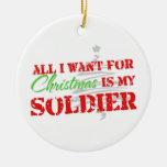 Todos lo que quiero para el navidad - ornamento adornos de navidad