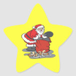 Todos lo que quiero para el navidad calcomania forma de estrella personalizadas
