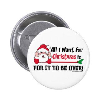 Todos lo que quiero para el navidad pin redondo de 2 pulgadas