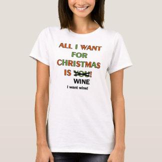Todos lo que quiero para el navidad playera
