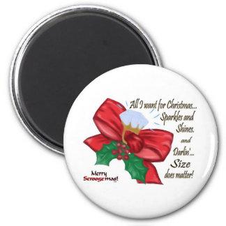 Todos lo que quiero para el navidad, que arqueo y  imán redondo 5 cm