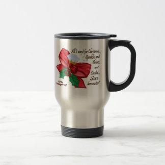 Todos lo que quiero para el navidad, que arqueo y  tazas de café