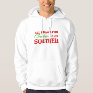 Todos lo que quiero para el navidad - soldado jersey encapuchado