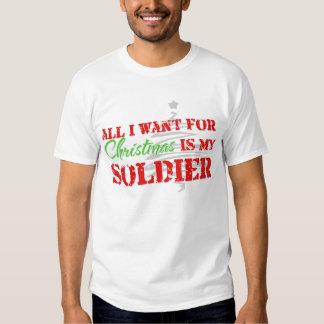 Todos lo que quiero para el navidad - soldado polera