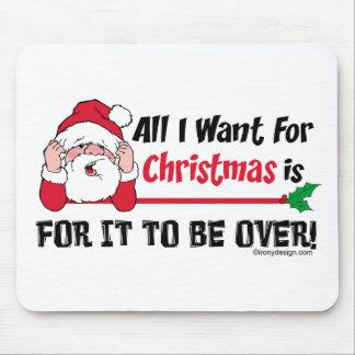 Todos lo que quiero para el navidad alfombrilla de raton