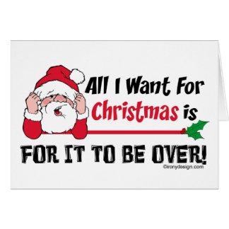 Todos lo que quiero para el navidad tarjeta de felicitación